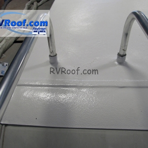 Ladder-legs-are-sealed-agains-leaks-with-FlexArmor-rv-roof